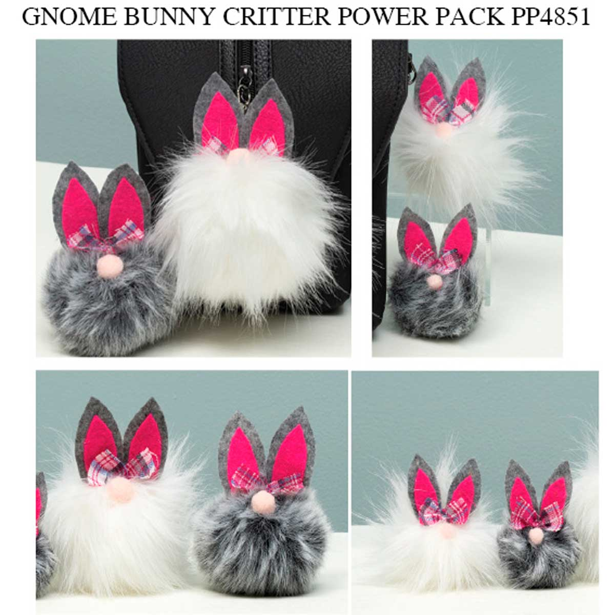Gnome Bunny Critter Power Pack 48 Units PP4851