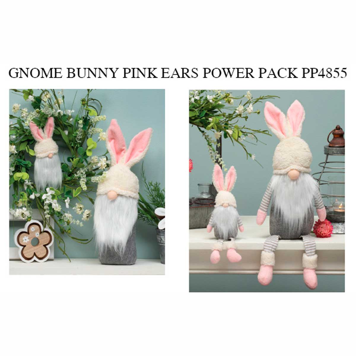 Pink Bunny Ears Gnome Power Pack 18 Units PP4855
