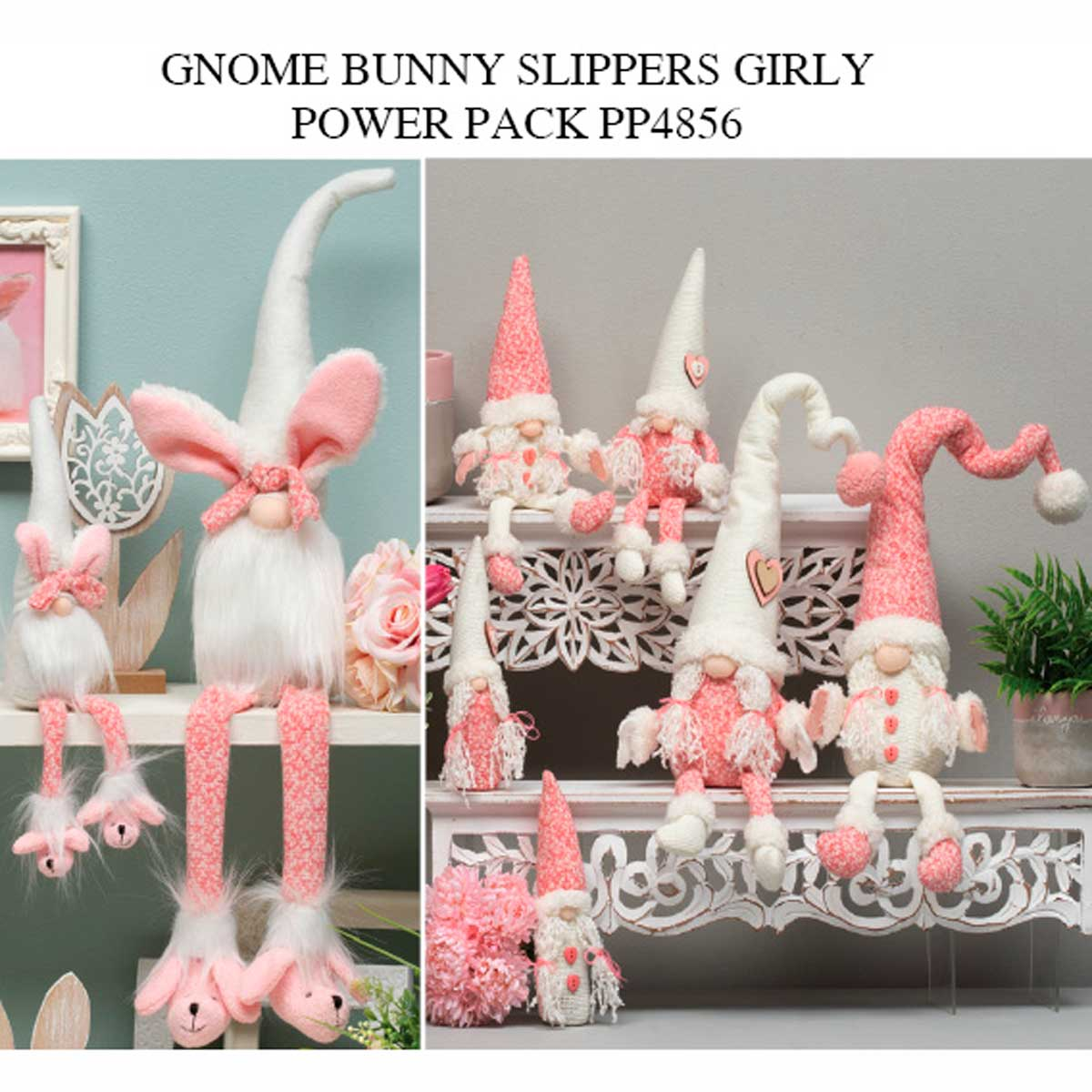 Bunny Slumber Party and Girly Girl Gnome Power Pack 24 Units