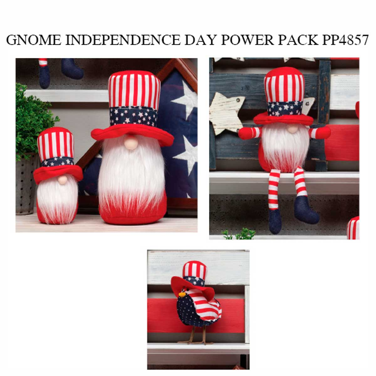 INDEPENDENCE DAY GNOME POWER PACK 14 units PP4857