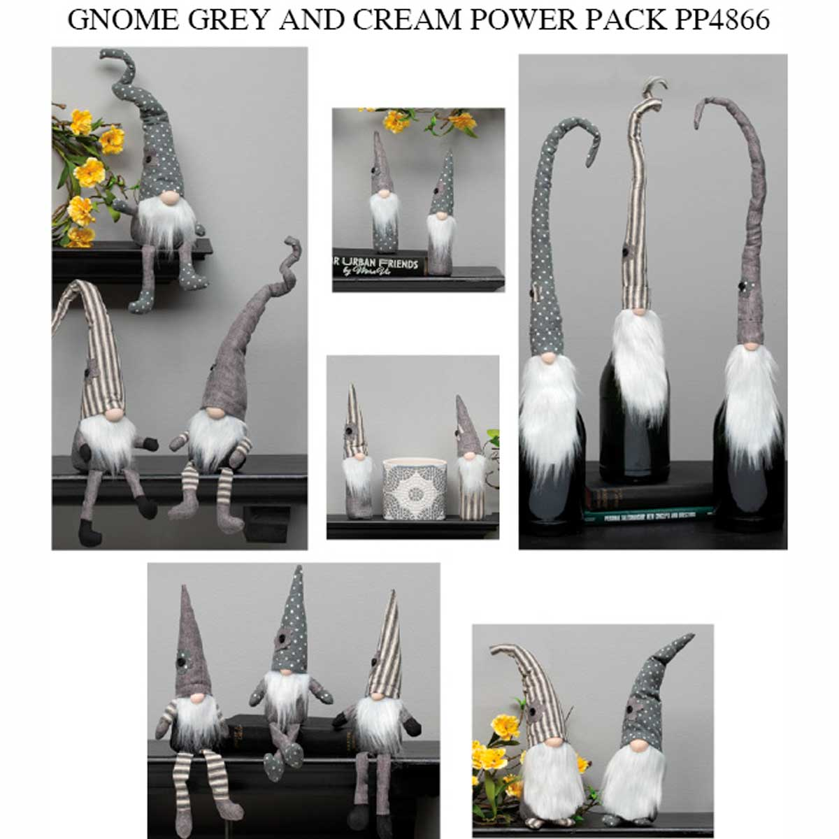 Grey & Cream Urban Gnome Collection 43 Units PP4866