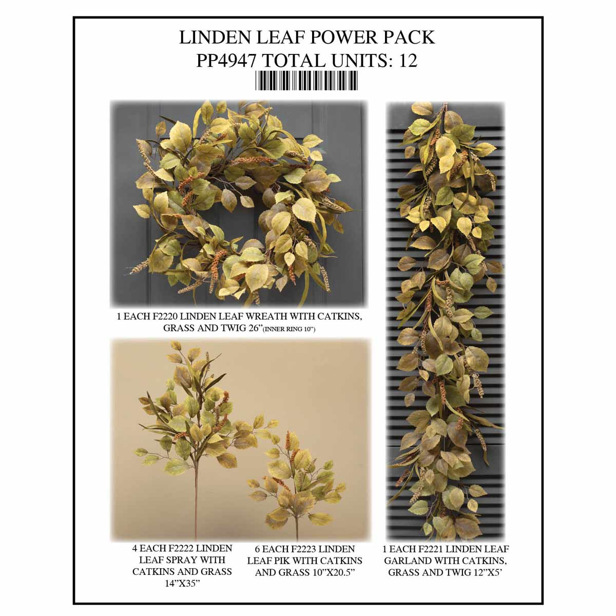 LINDEN LEAF POWER PACK 12 UNITS PP4947
