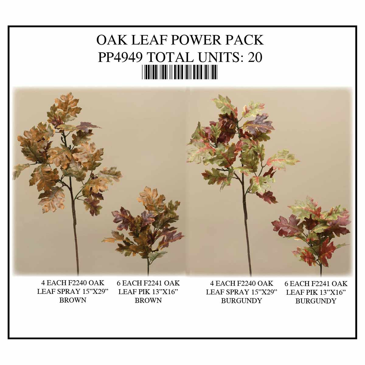 OAK LEAF POWER PACK 20 UNITS PP4949