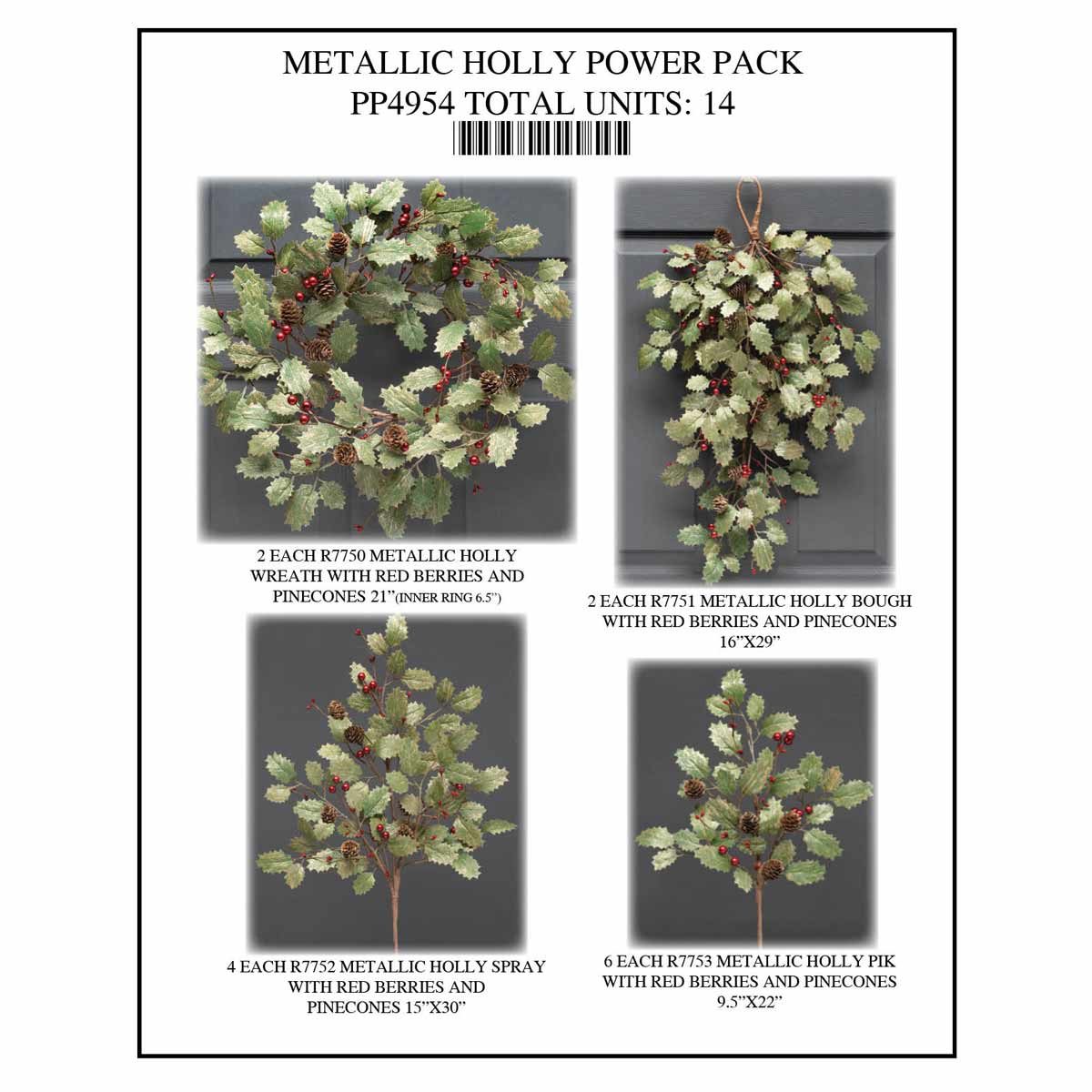 HOLLY METALLIC COLLECTION POWER PACK 14 UNITS PP4954