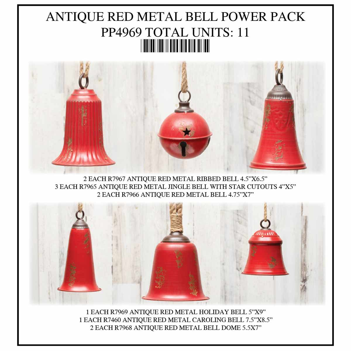 BELL RED POWER PACK 11 UNITS