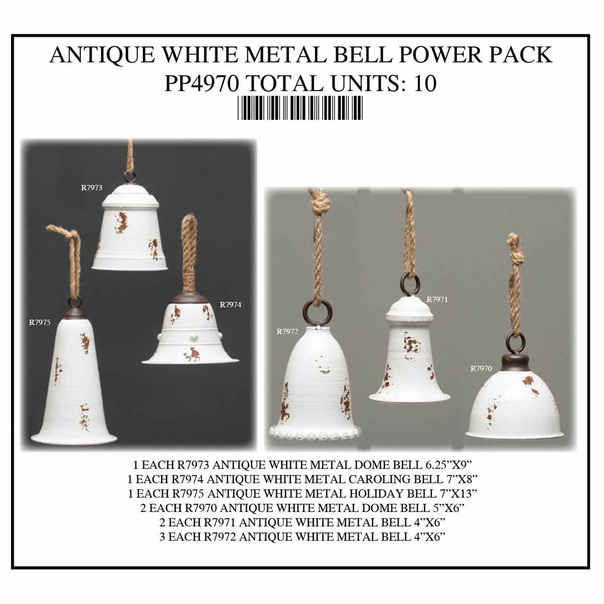 ANTIQUE WHITE BELL POWER PACK 10 UNITS