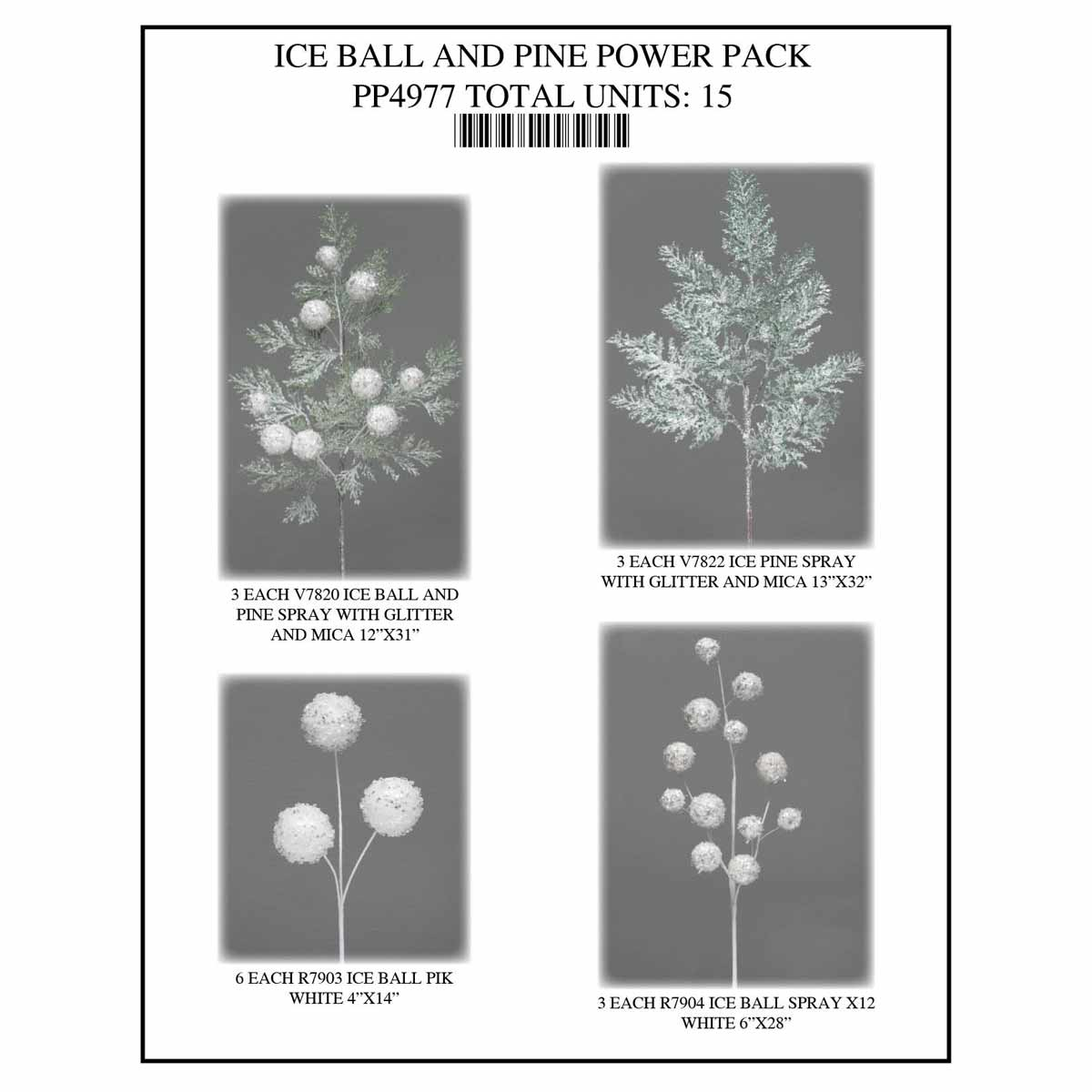 ICE BALL PINE Power Pack 15 Units