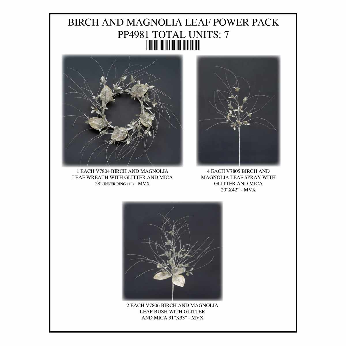 BIRCH MAGNOLIA POWER PACK 7 UNITS PP4981