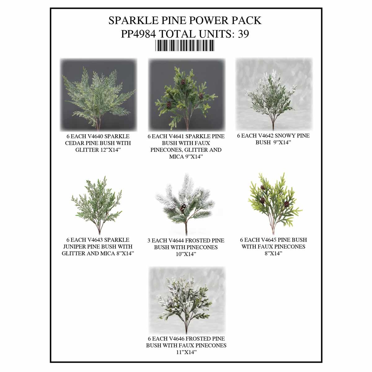 PINE SPARKLE POWER PACK 39 UNITS