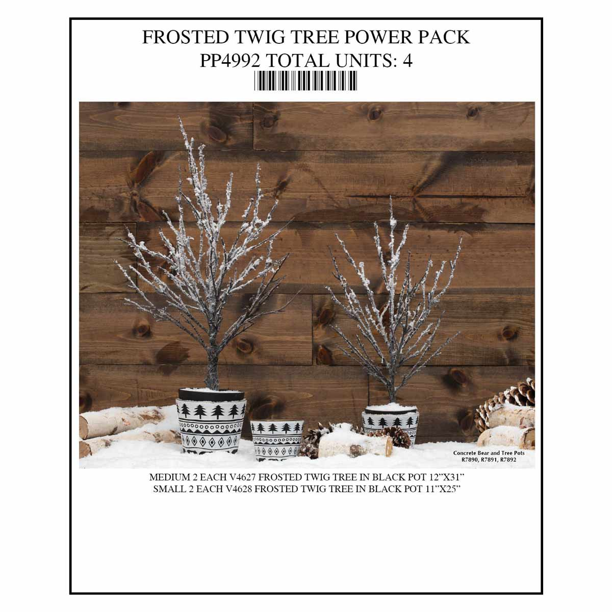 TREE TWIG POWER PACK 4 UNITS