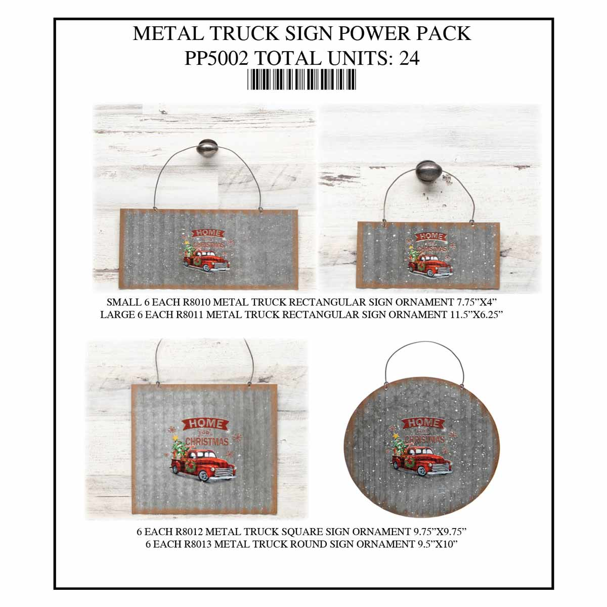 SIGN TRUCK METAL POWER PACK 24 UNITS