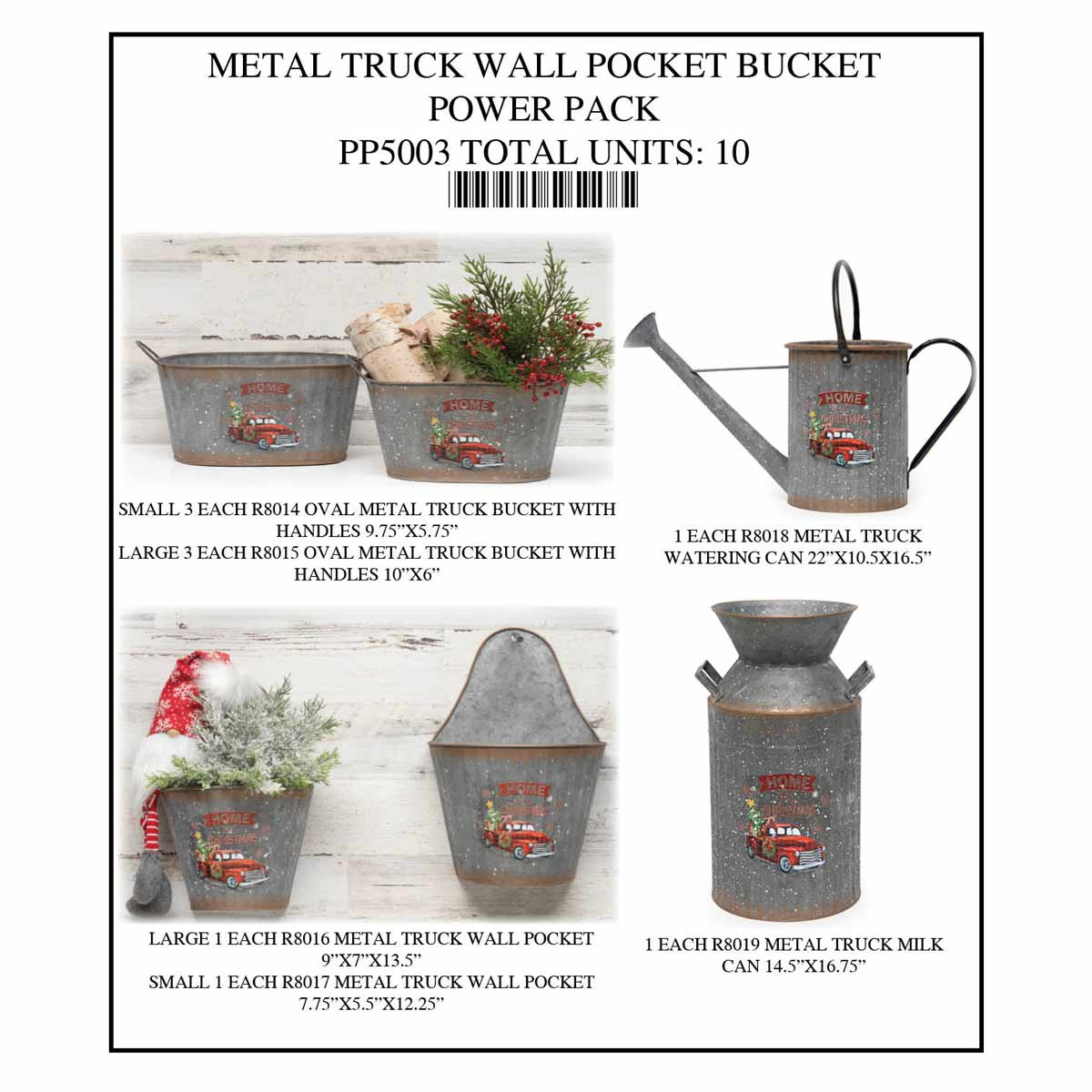BUCKET WALL POCKET TRUCK POWER PACK 10 UNITS