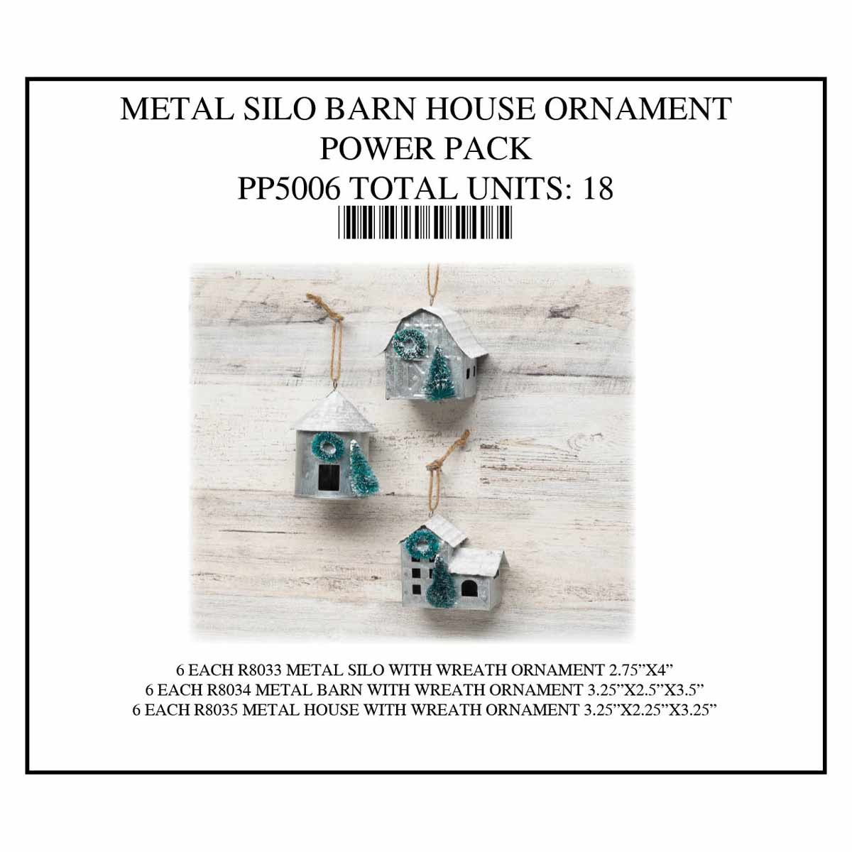 SILO/BARN ORNAMENT POWER PACK 18 UNITS PP5006