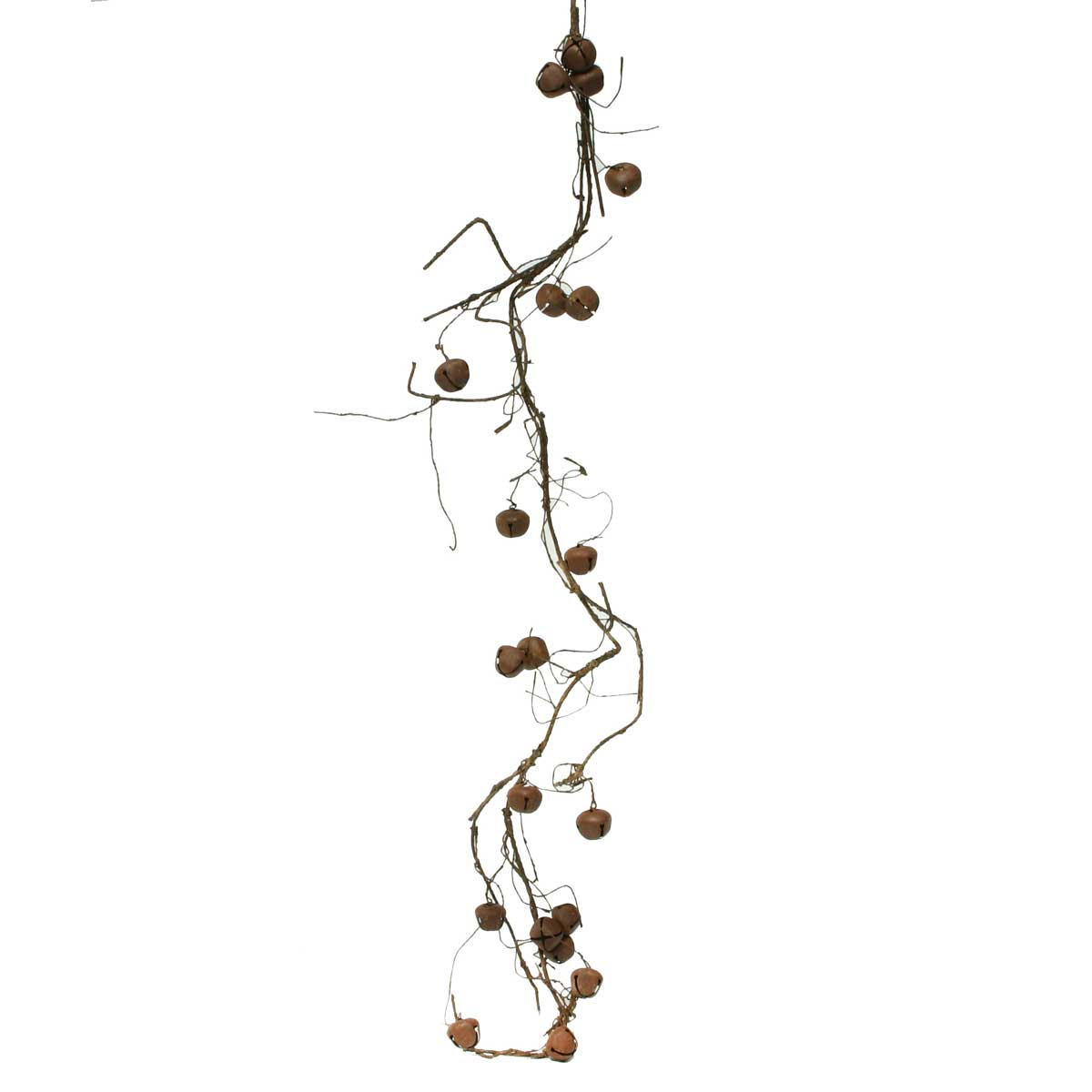 Decorative Rust Bell and Twig Garland