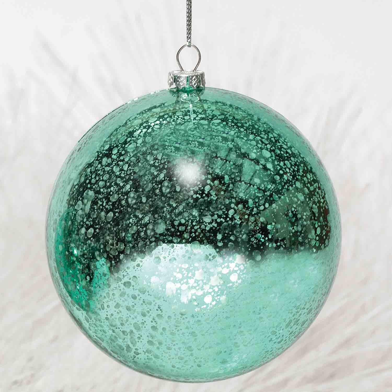 tivoli blue mercury ball ornament 4 tiffany blue b50 - Tiffany Blue Christmas Ornaments