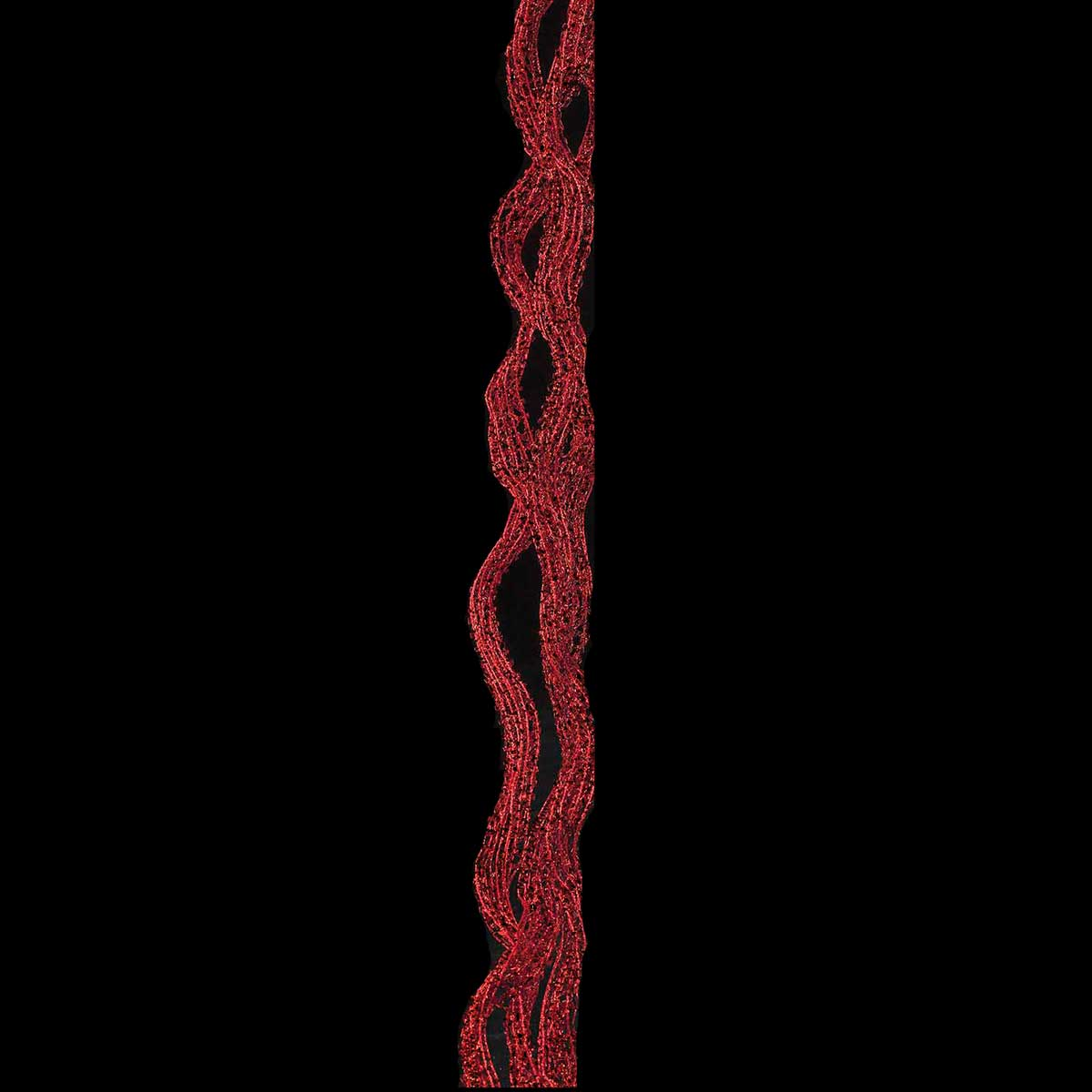 "R5902 RE RIBBON CASCADE WIRED 72"" RED"