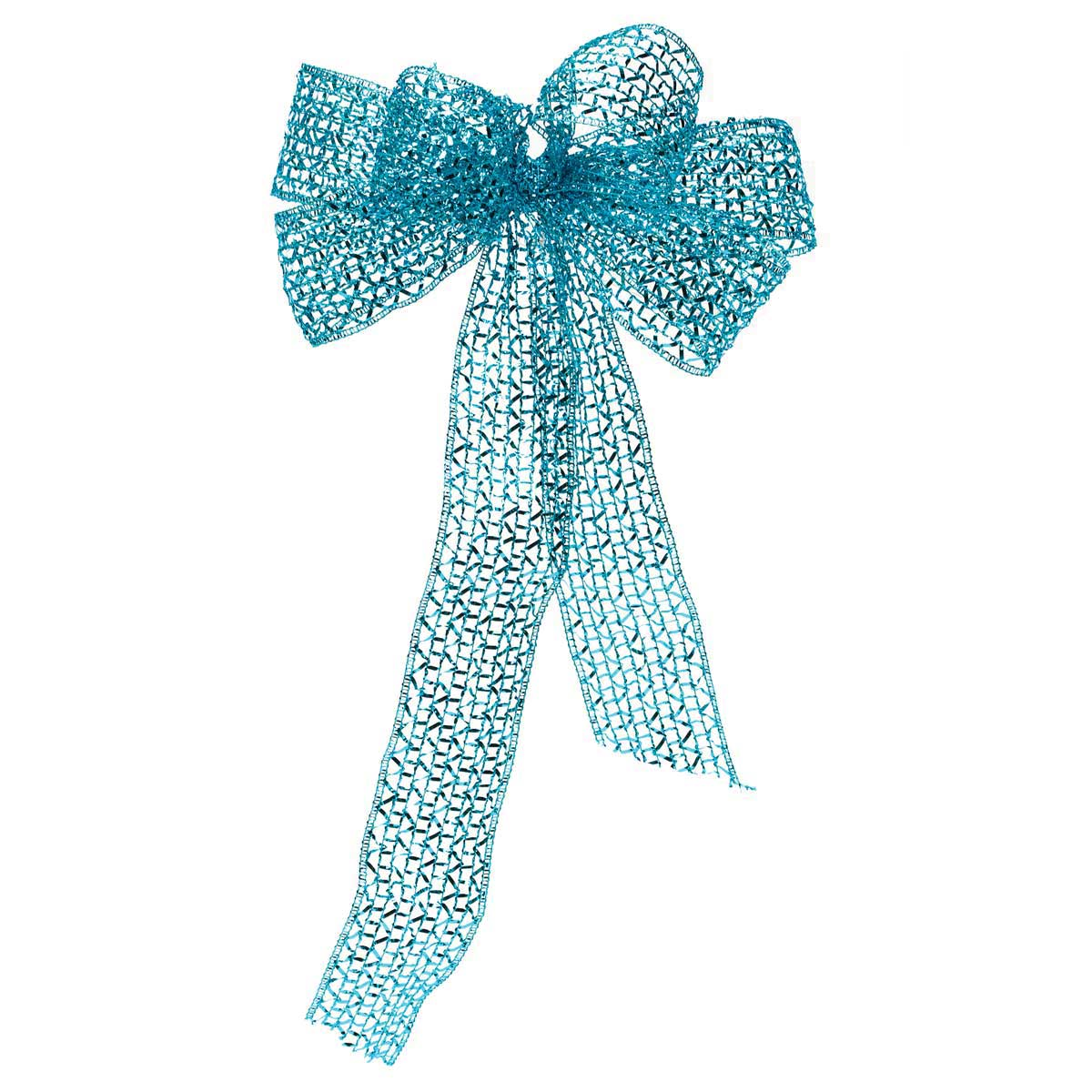 "R5903 TL GLITTER RIBBON 2.5"" X 72"" TEAL *70sp"