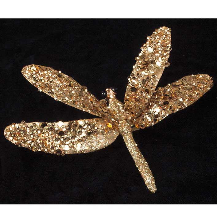 "R6015 GO DRAGONFLY ON CLIP 6"" X 4"" GOLD"