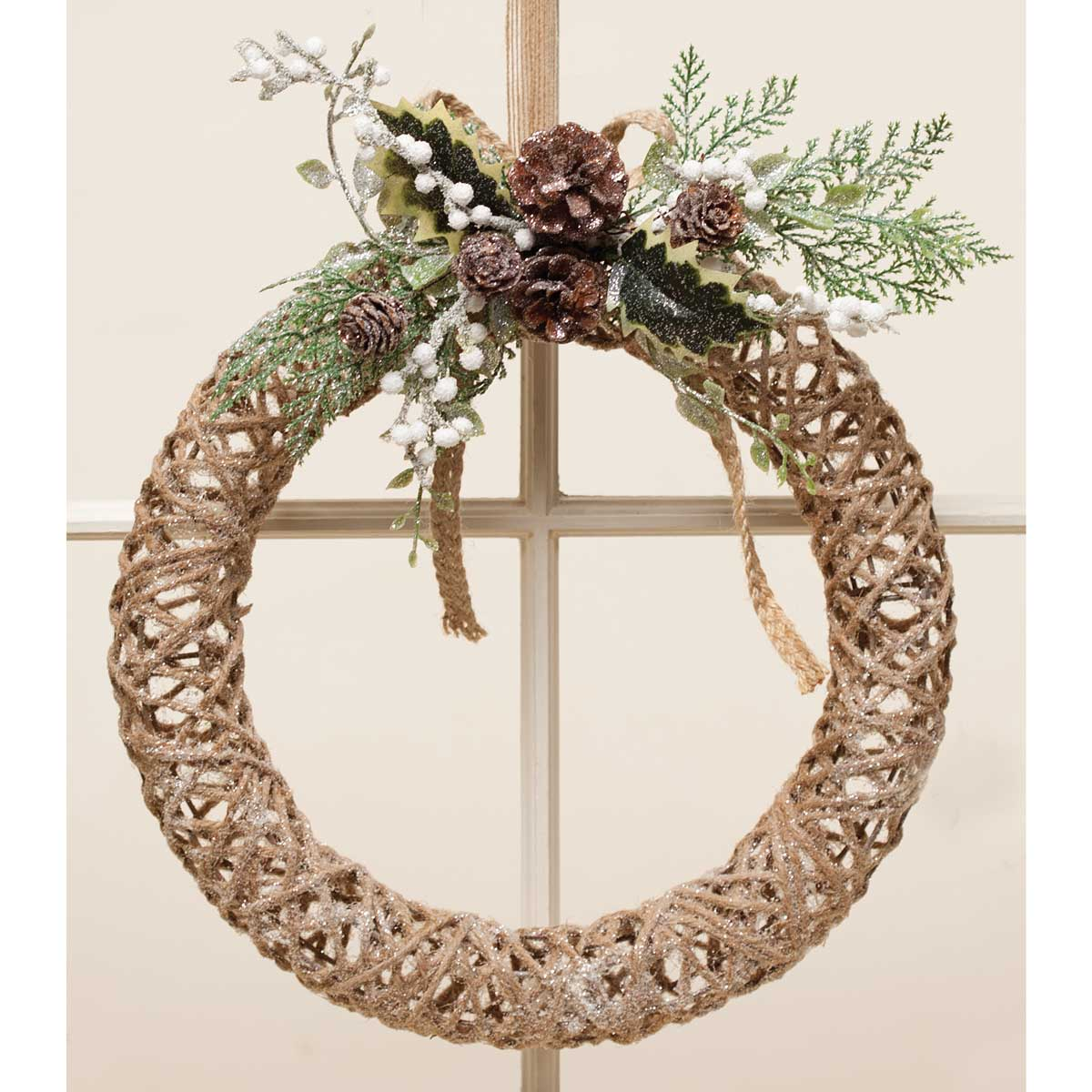 FARMHOUSE CHIC TWINE WREATH