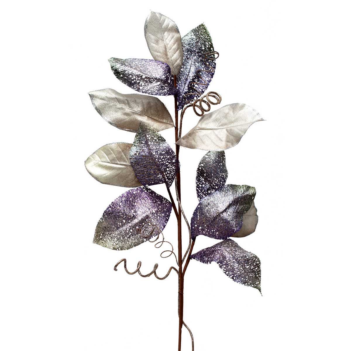 "AMETHYST SHIMMER MAGNOLIA LEAF SPRAY 40"" *70sp"