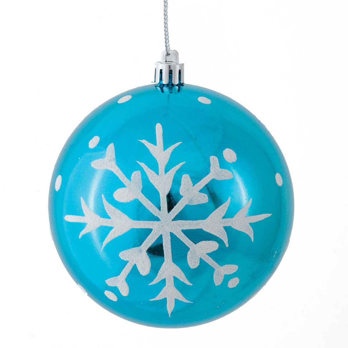 "RETRO SNOWFLAKE BALL ORNAMENT 4.25"" *70sp"