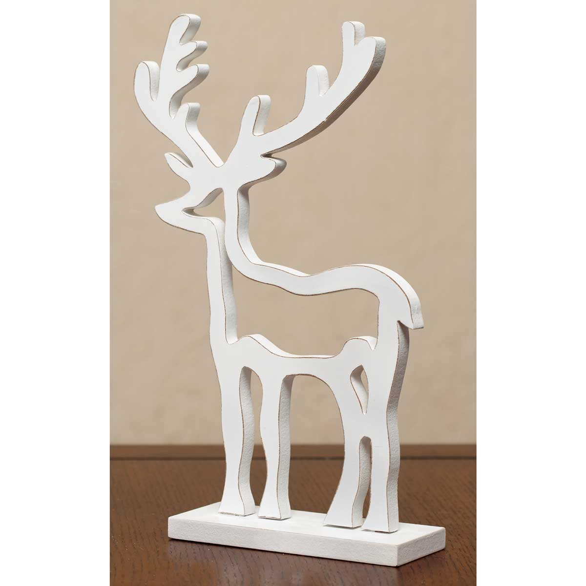 "WOOD CUTOUT REINDEER 7.5""X12"""