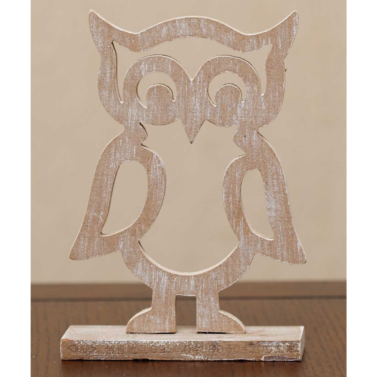 "WOOD CUTOUT OWL 4.5""X6.25"""