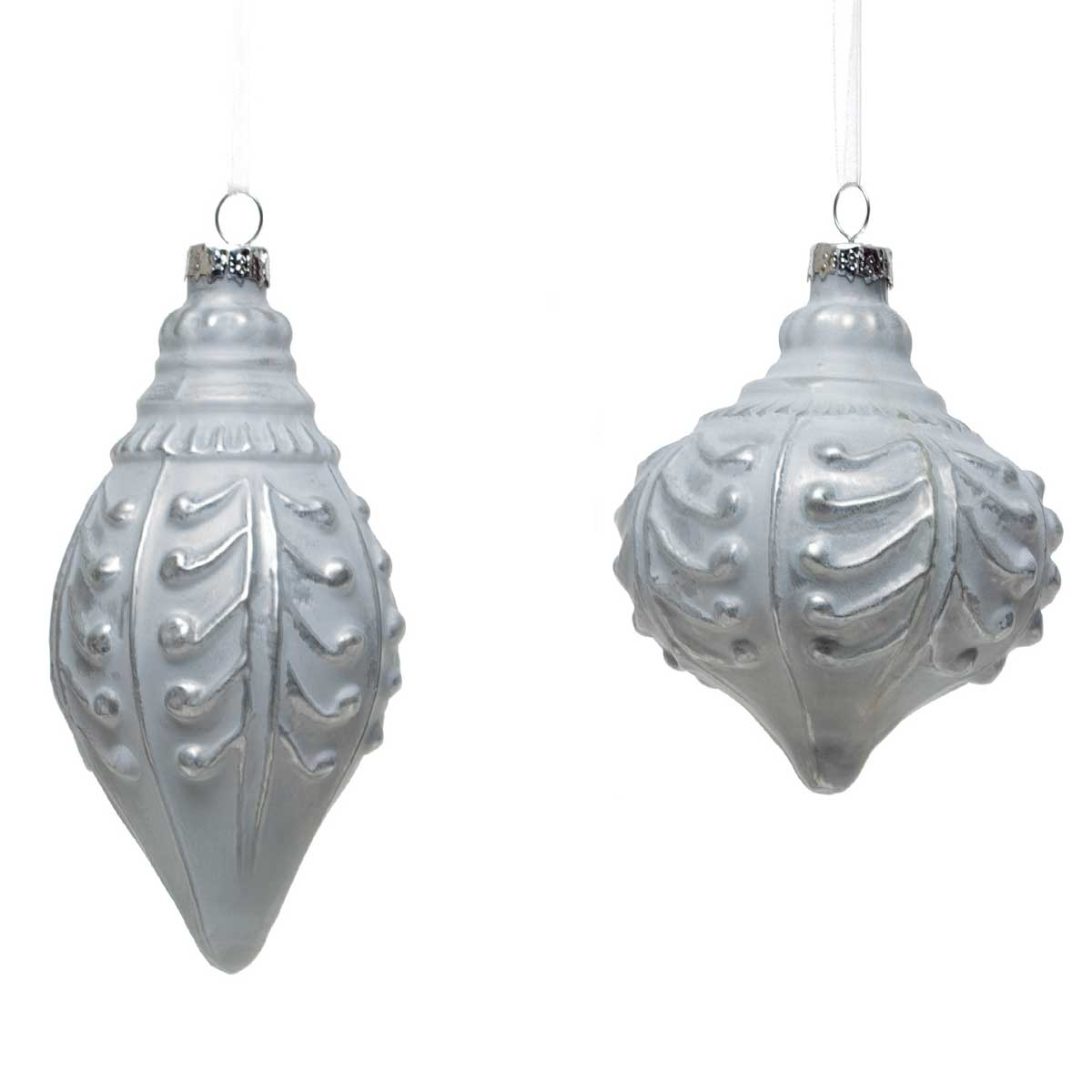 2 Piece Glass Finial/Kismet Ornament Set