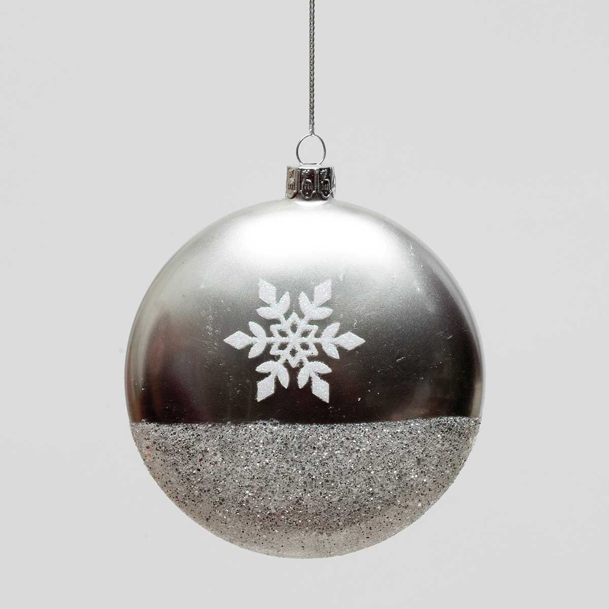 SILVER SNOWFLAKE GLASS
