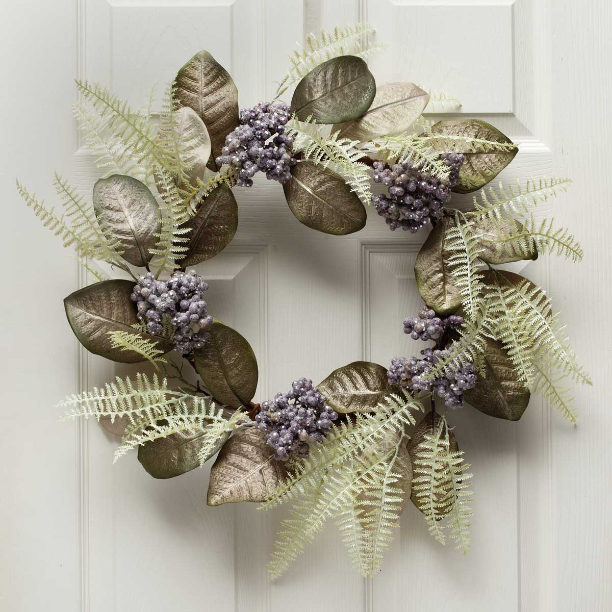 "AMETHYST FERN BERRY WREATH 26"" b50"
