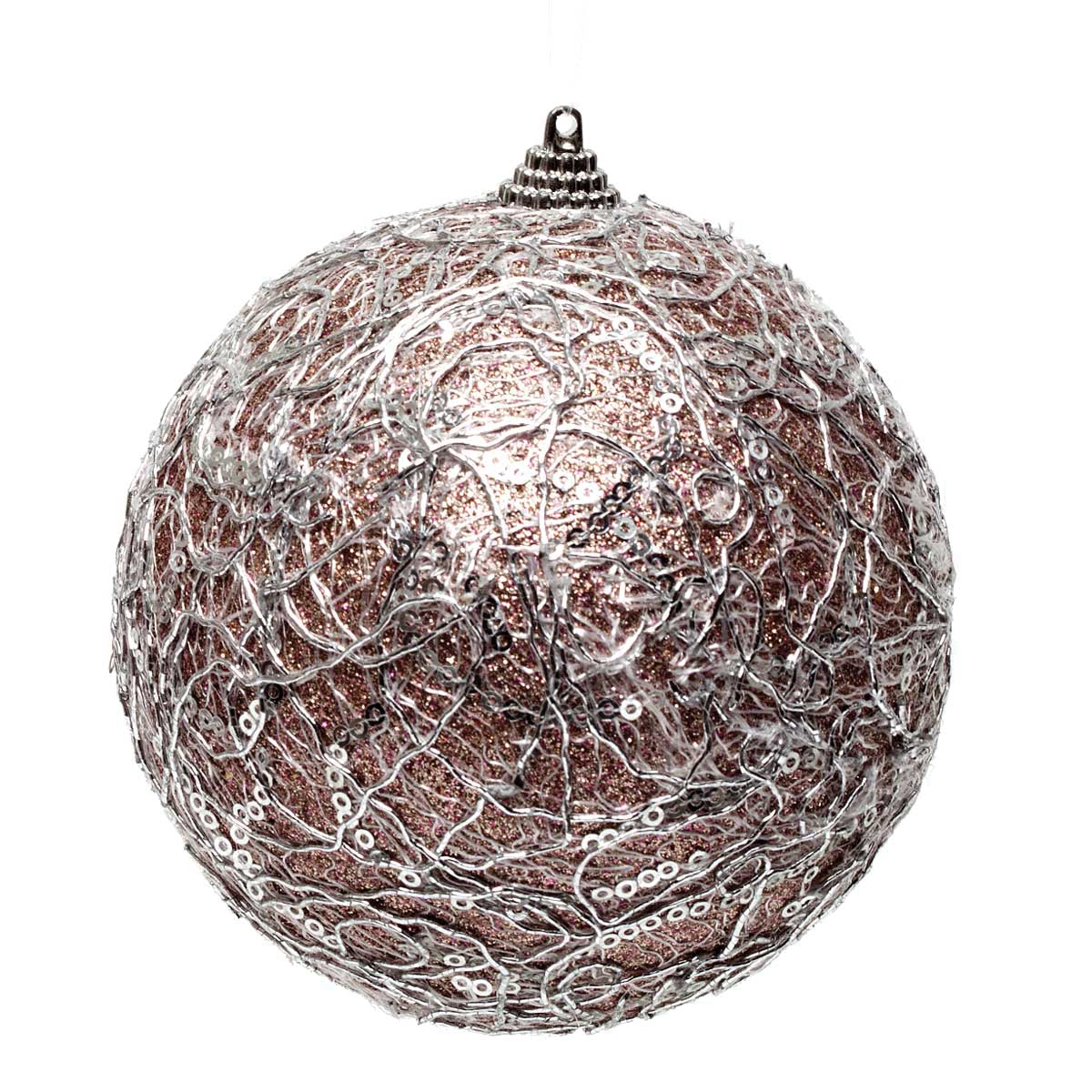 PURPLE SPARKLE NETTING BALL