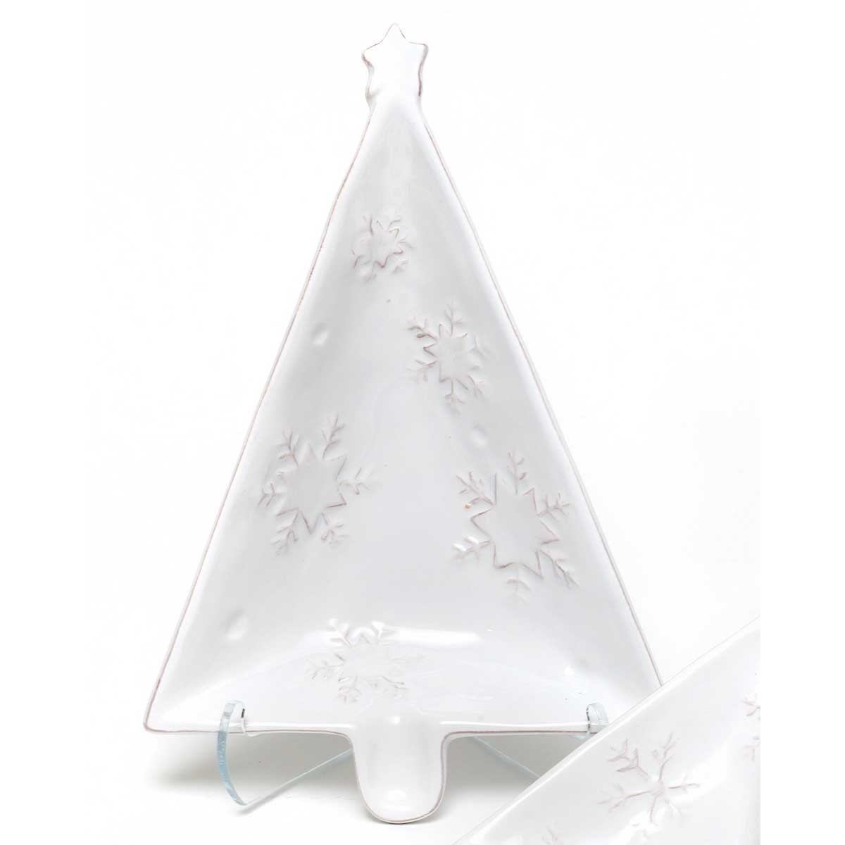"YULETIDE TREE SHAPED SERVER 6""X9.25"""
