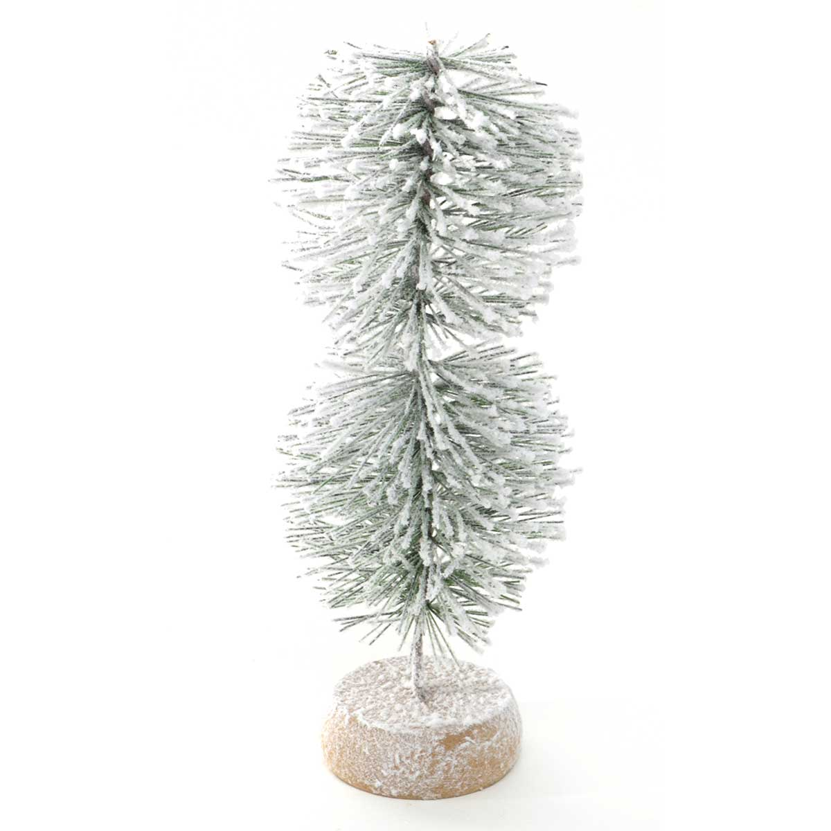 "MINI TOPIARY TREE WITH SNOW 3""X8.75"""