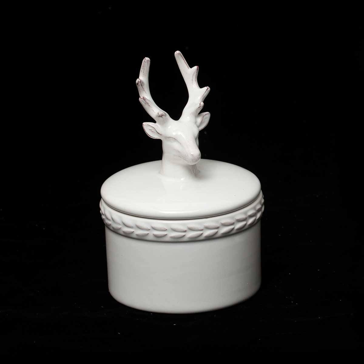 DEER CANDY DISH WITH LID