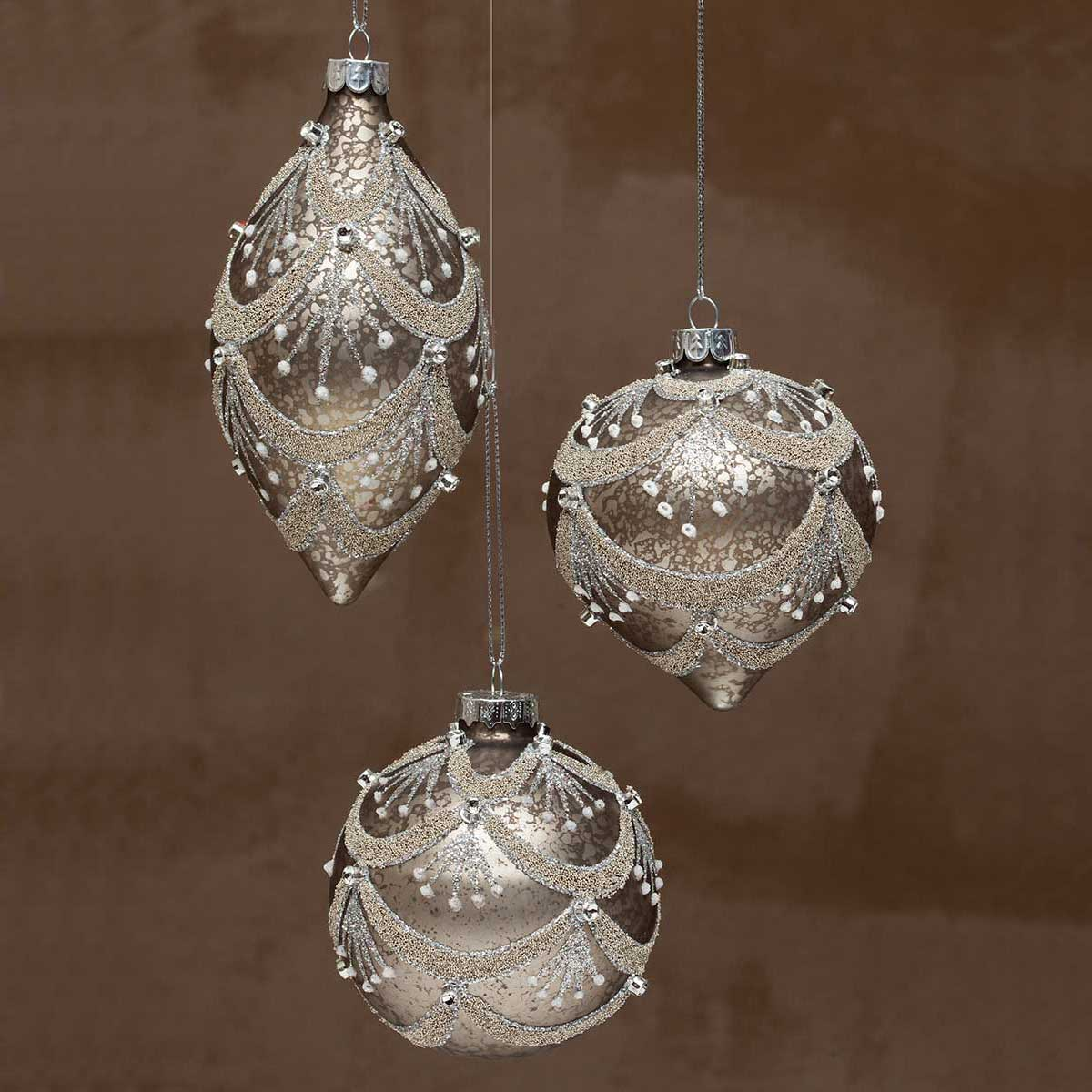 Champagne glass chandelier ball ornament r6932x3 2845 zia champagne glass chandelier ball ornament arubaitofo Image collections