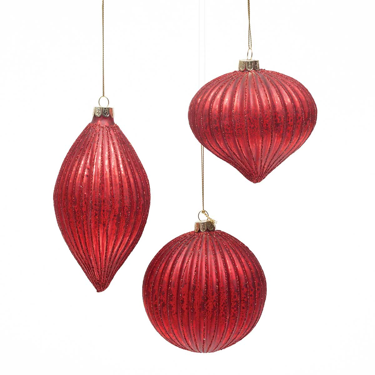 REGAL RED ORNAMENT 3 ASSORTED