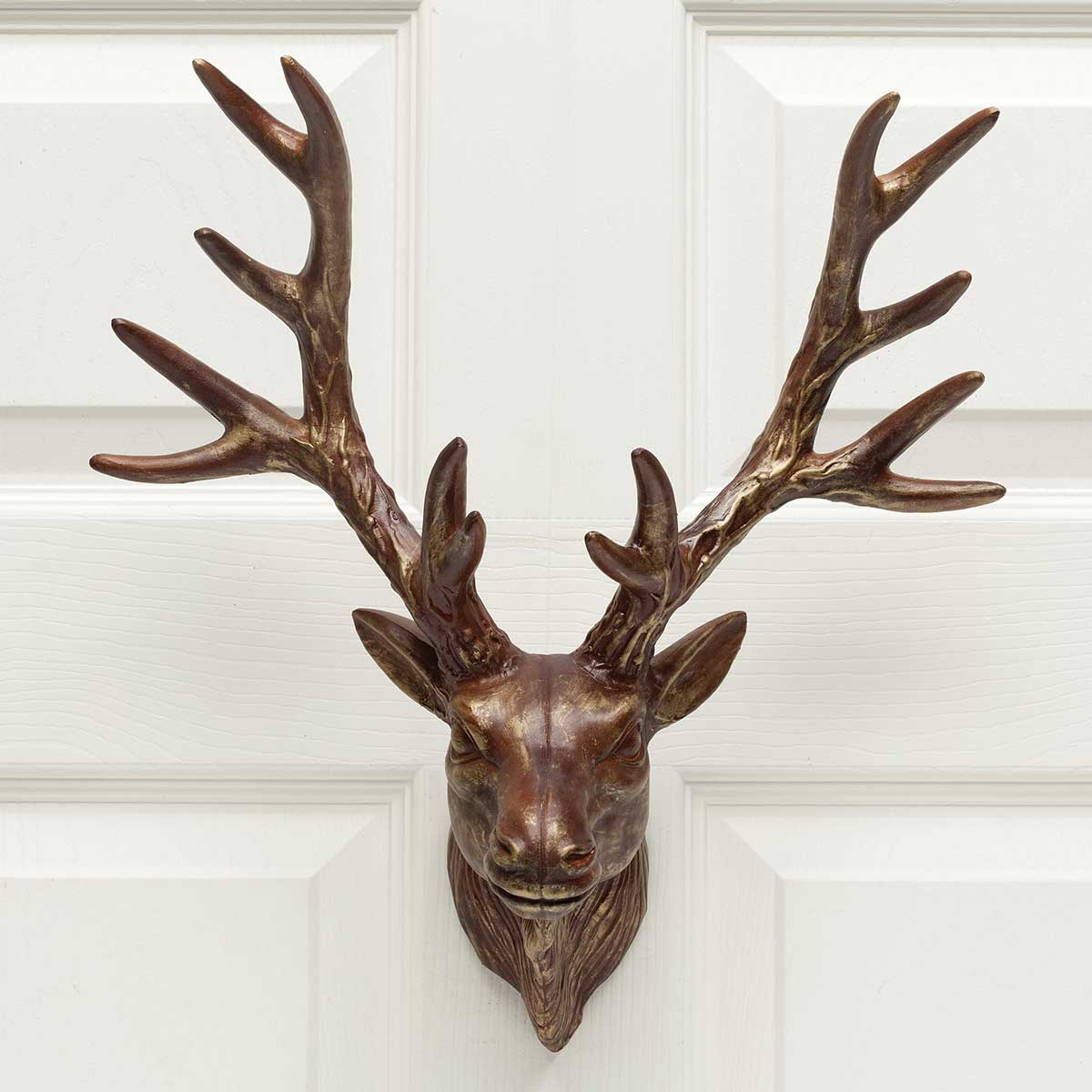 walls hanging and kalalou the wooden catching deer wall recycled eye hangingwill decor an give look pin head stag