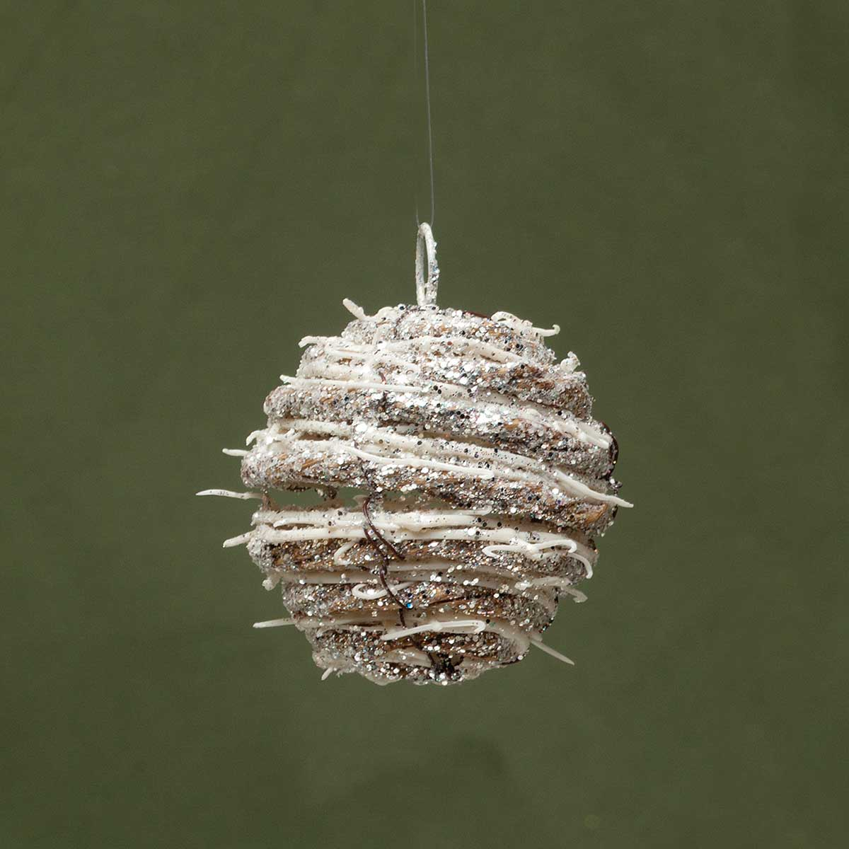 "TWIG BALL ORNAMENT 3""/5""/8"" SET OF 3 3""/8""/5"""
