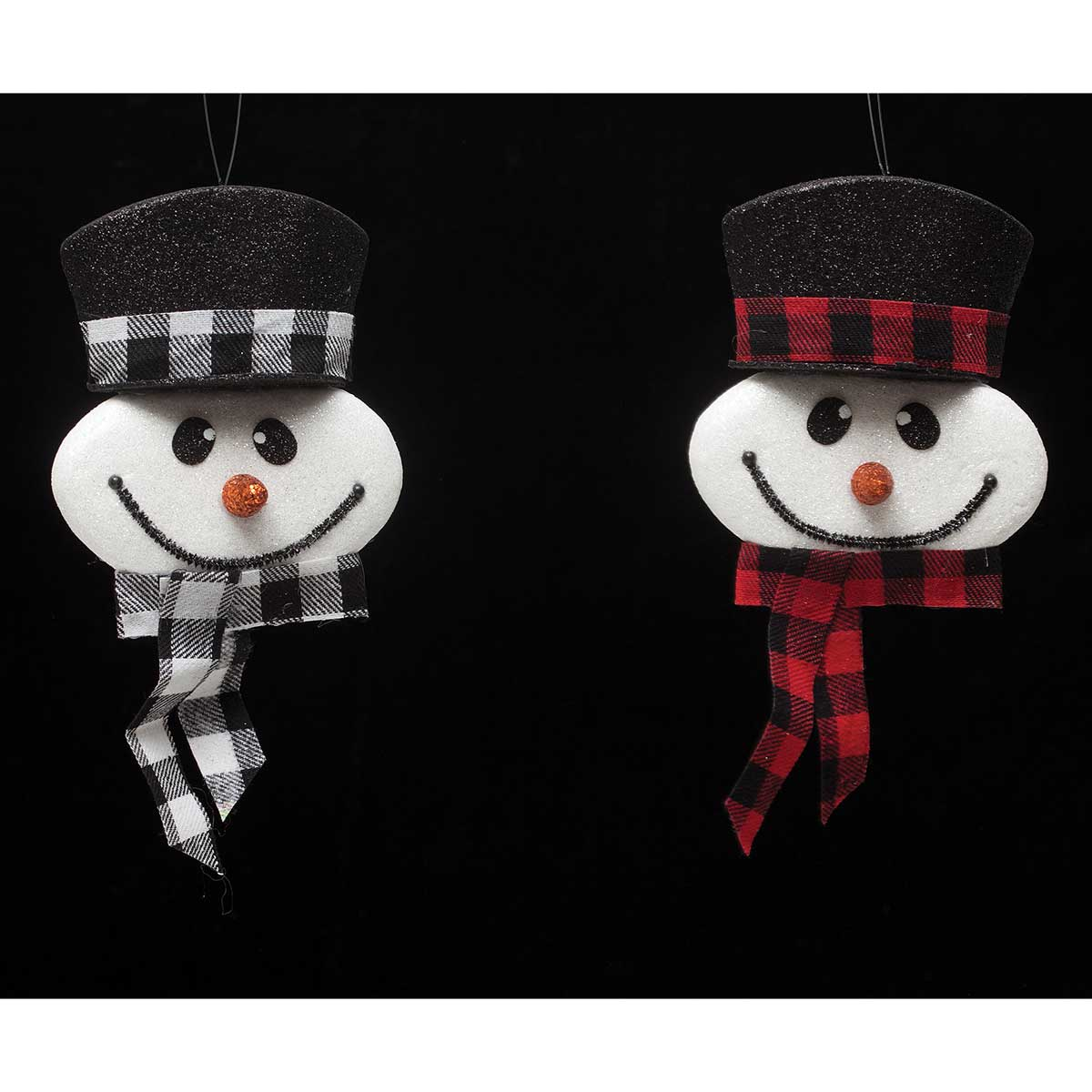 LET IT SNOW SNOWMAN PLAID