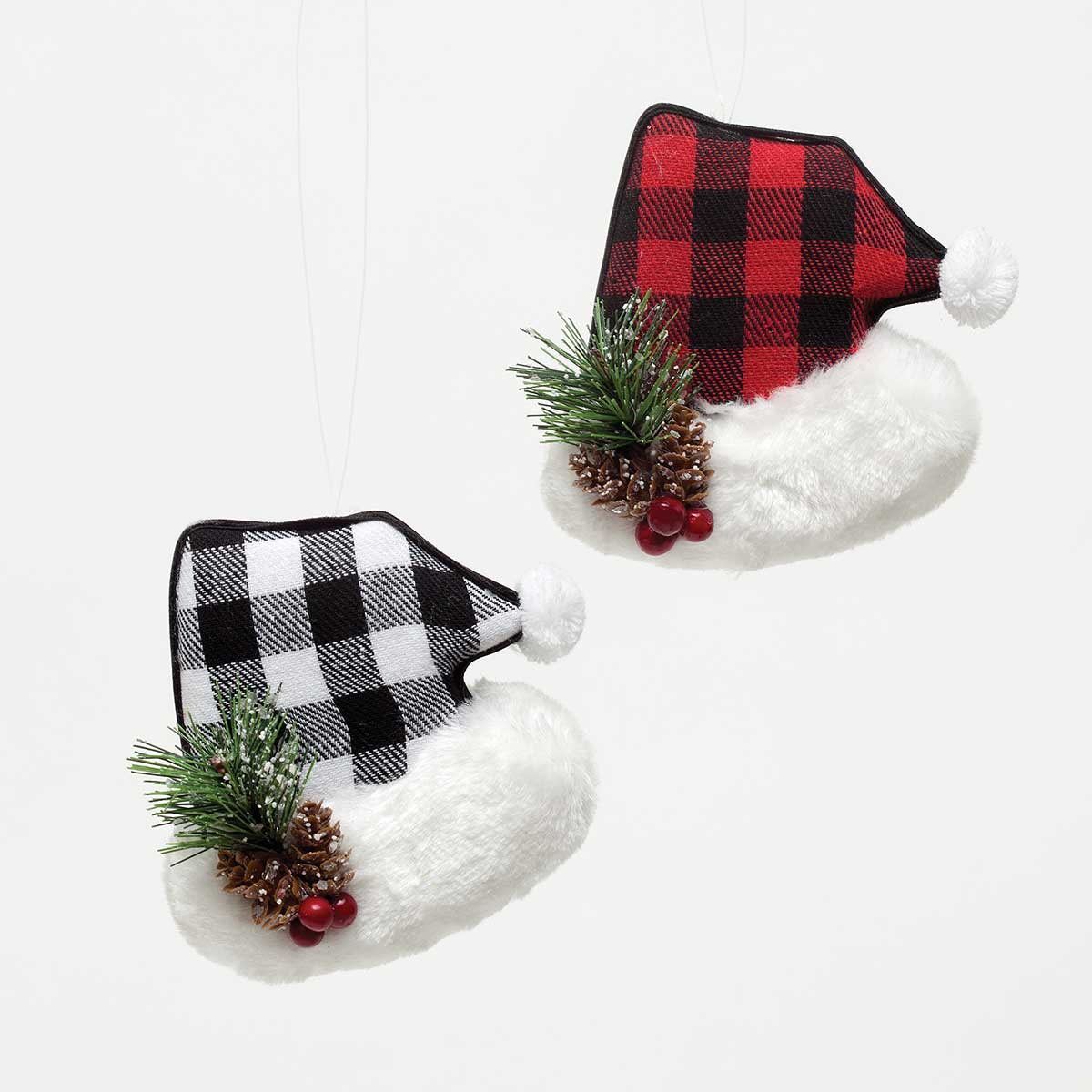 LET IT SNOW PLAID SANTA HAT