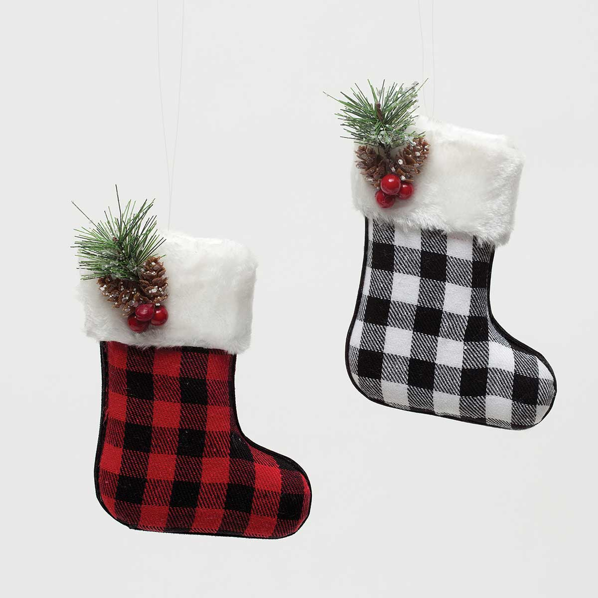LET IT SNOW PLAID STOCKING