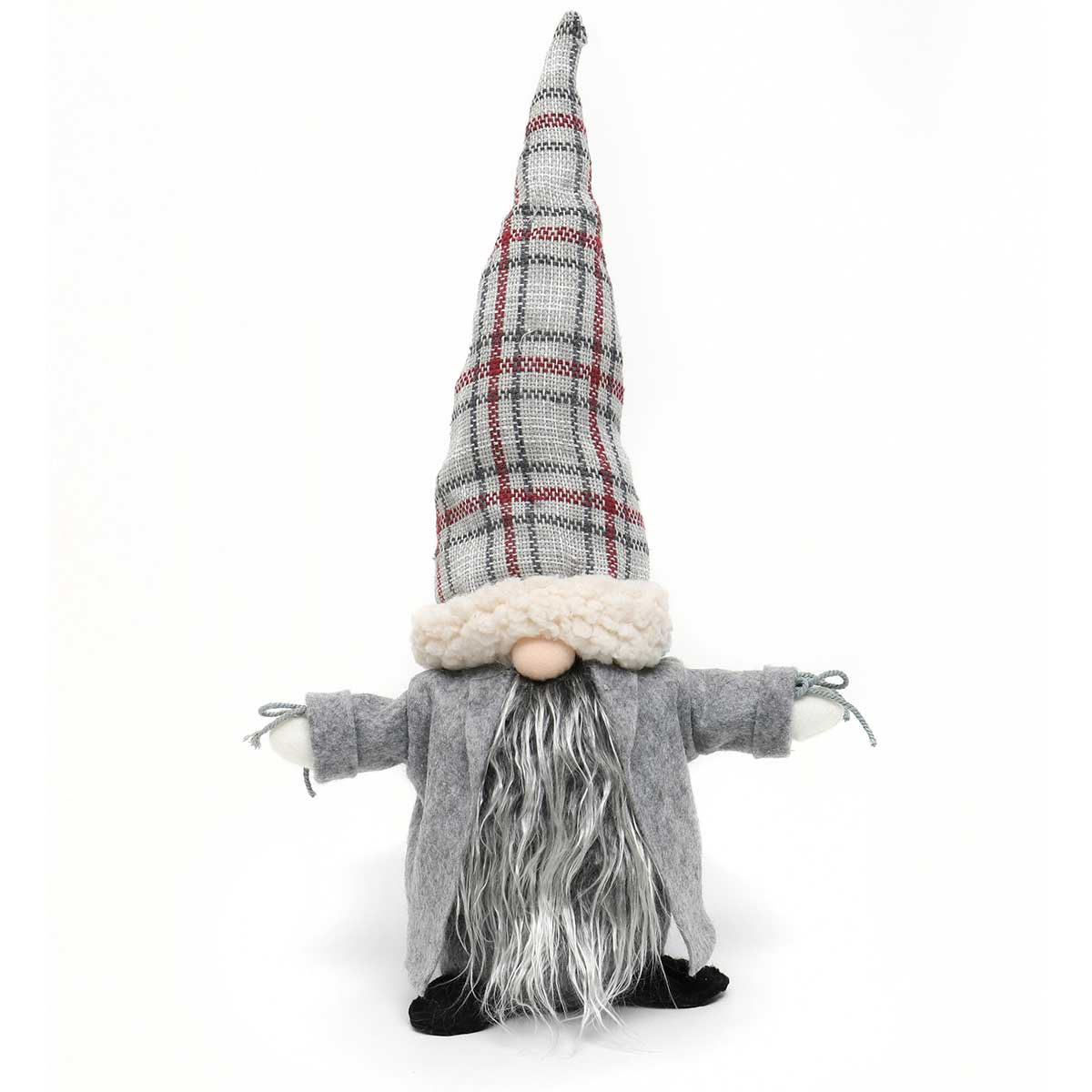 NILS GNOME WITH PLAID HAT AND GREY