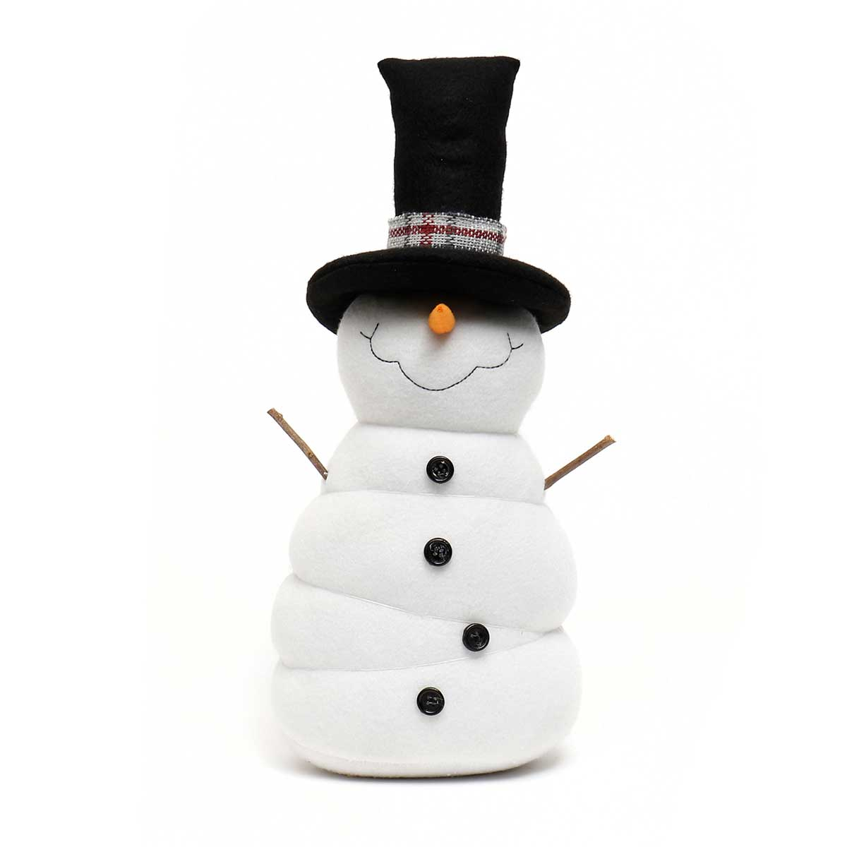 FROSTY SNOME WITH BLACK TOP HAT,