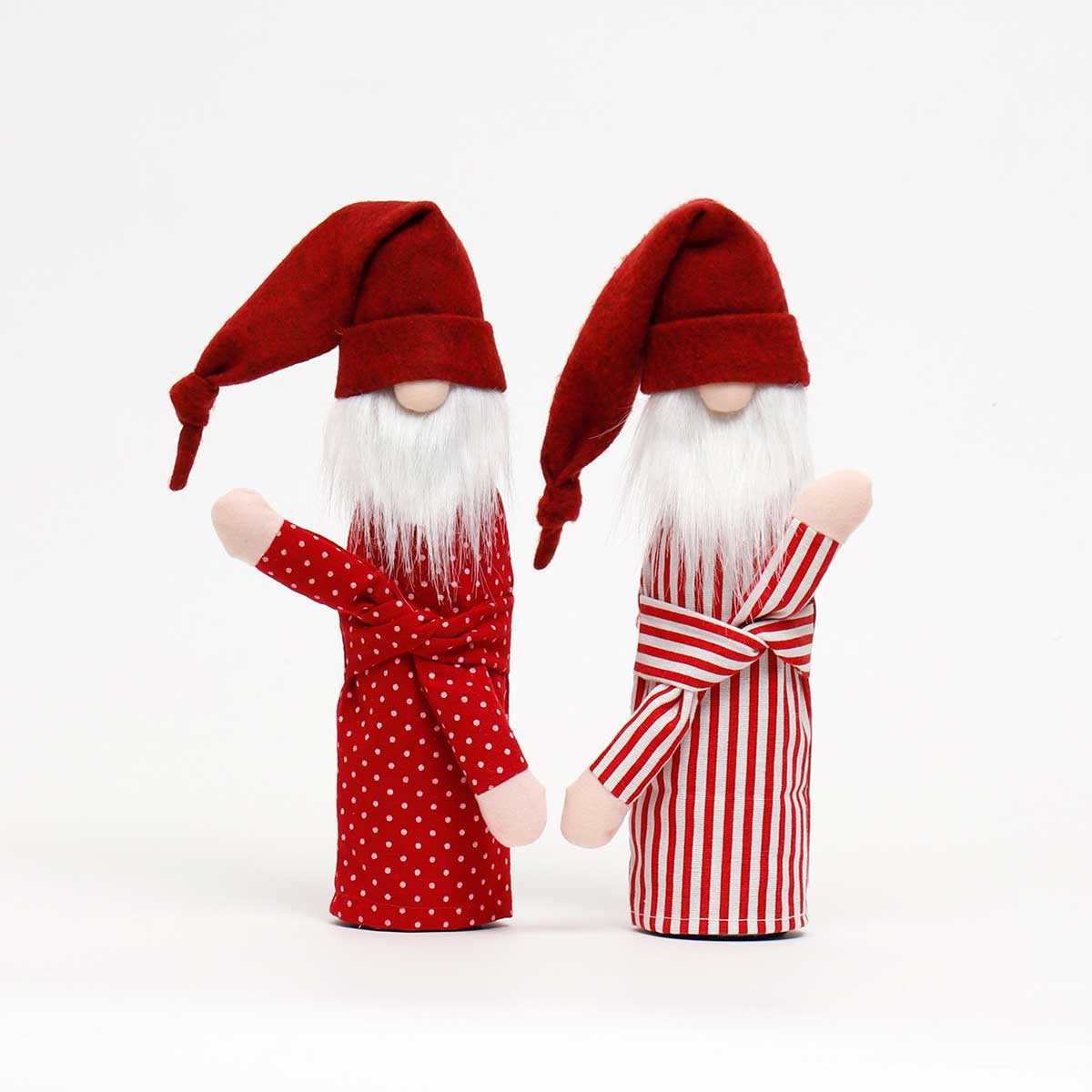 RED SLEEPY SANTA BOTTLE COVER