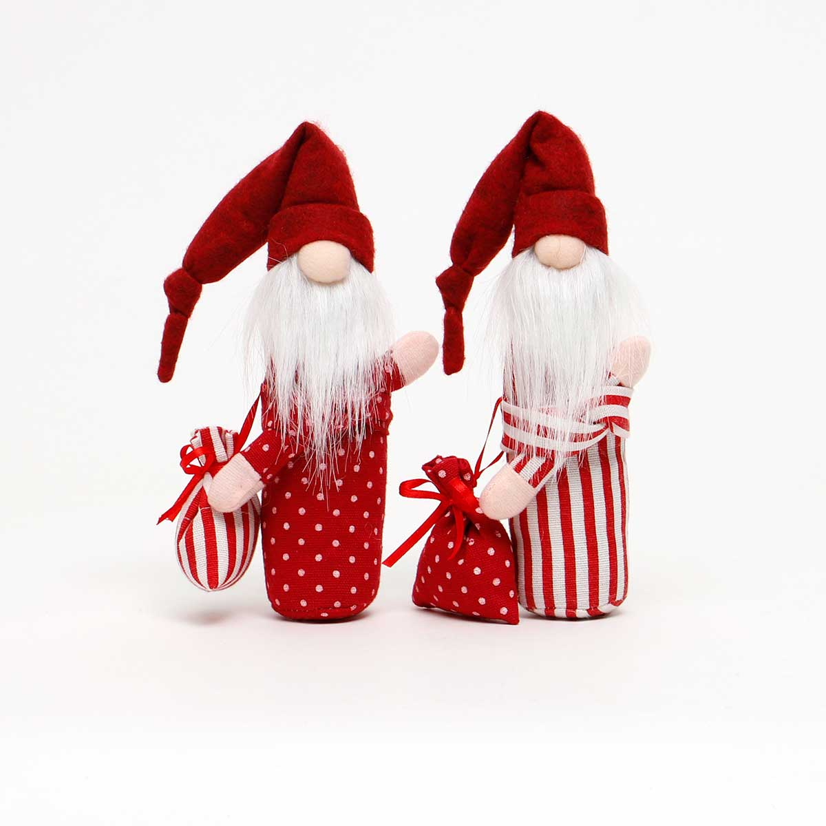 RED SLEEPY SANTA WITH BAG 2ASSORTED