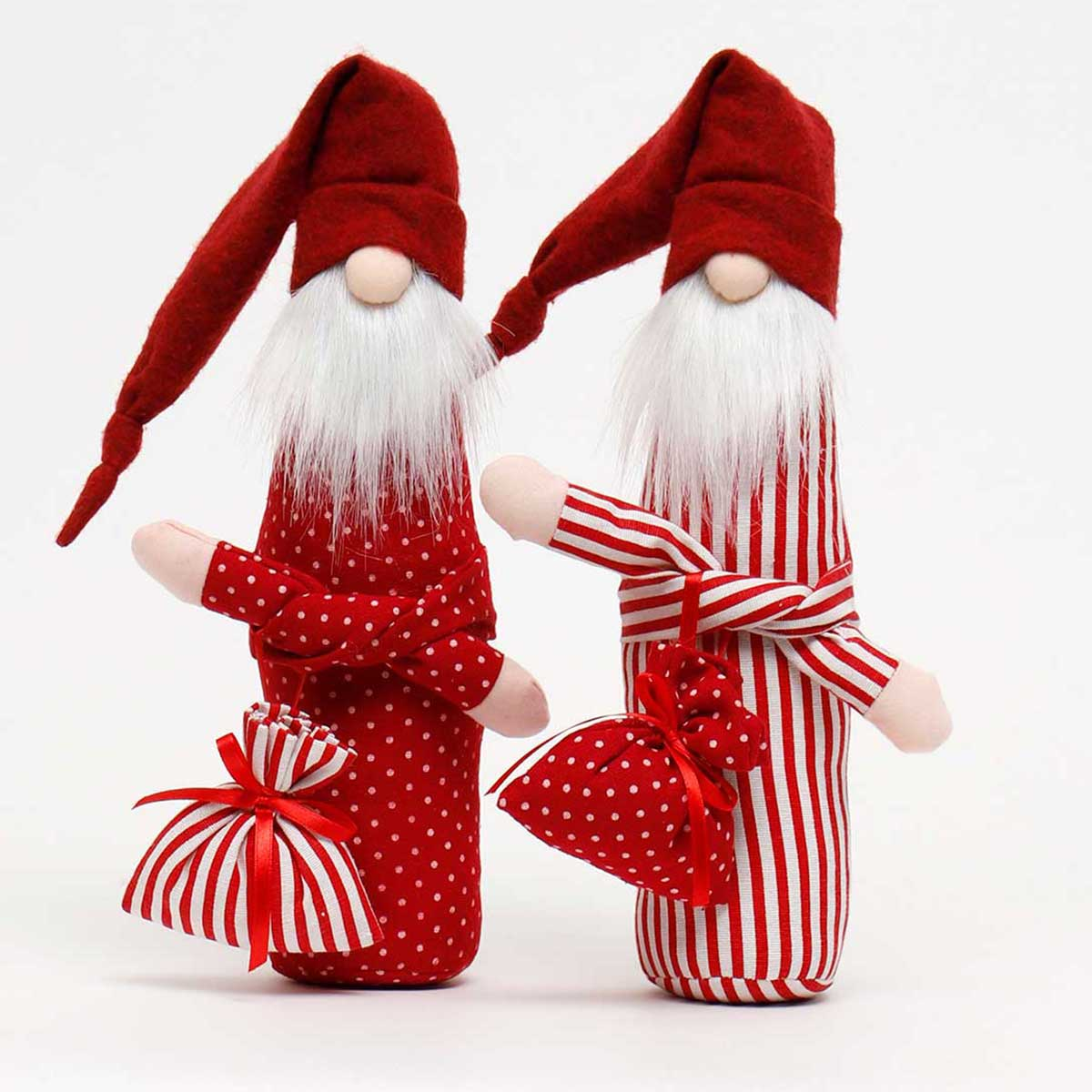 RED SLEEPY SANTA WITH BAG 2 ASSORTED