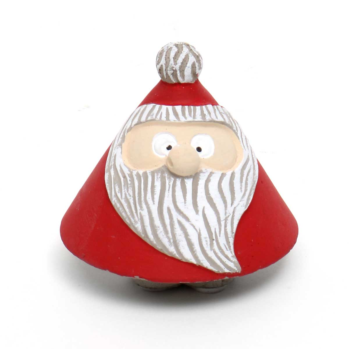 "RED/WHITE CONCRETE ROLY-POLY SANTA SMALL 2.75""X2.5"""