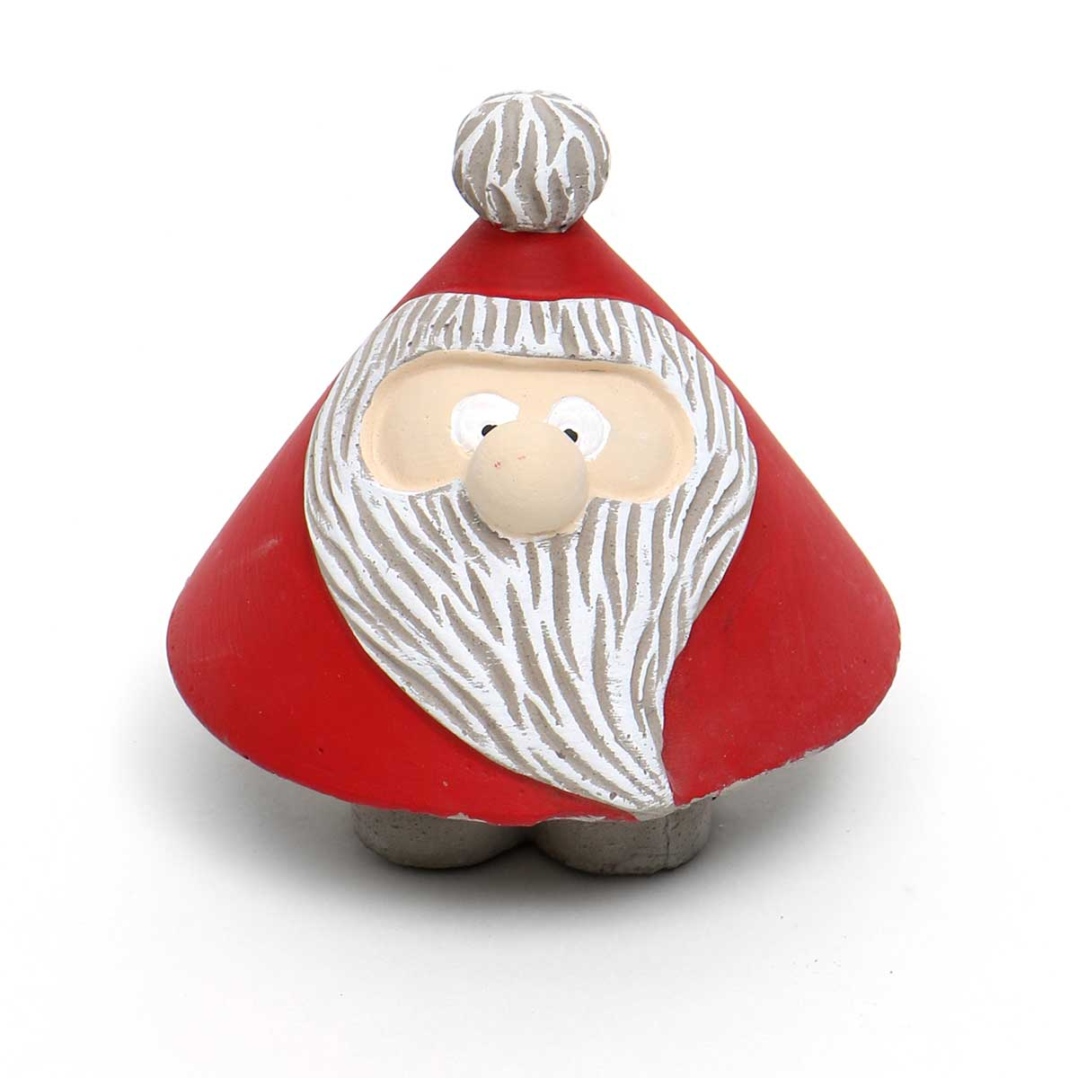 "RED/WHITE CONCRETE ROLY-POLY SANTA LARGE 3.75""X4"""