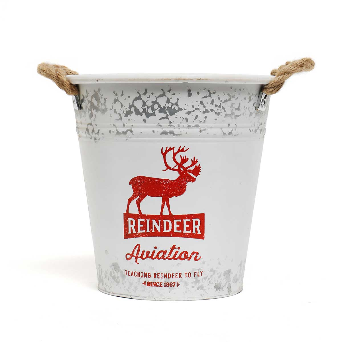 "METAL ""REINDEER AVIATION"" BUCKET"
