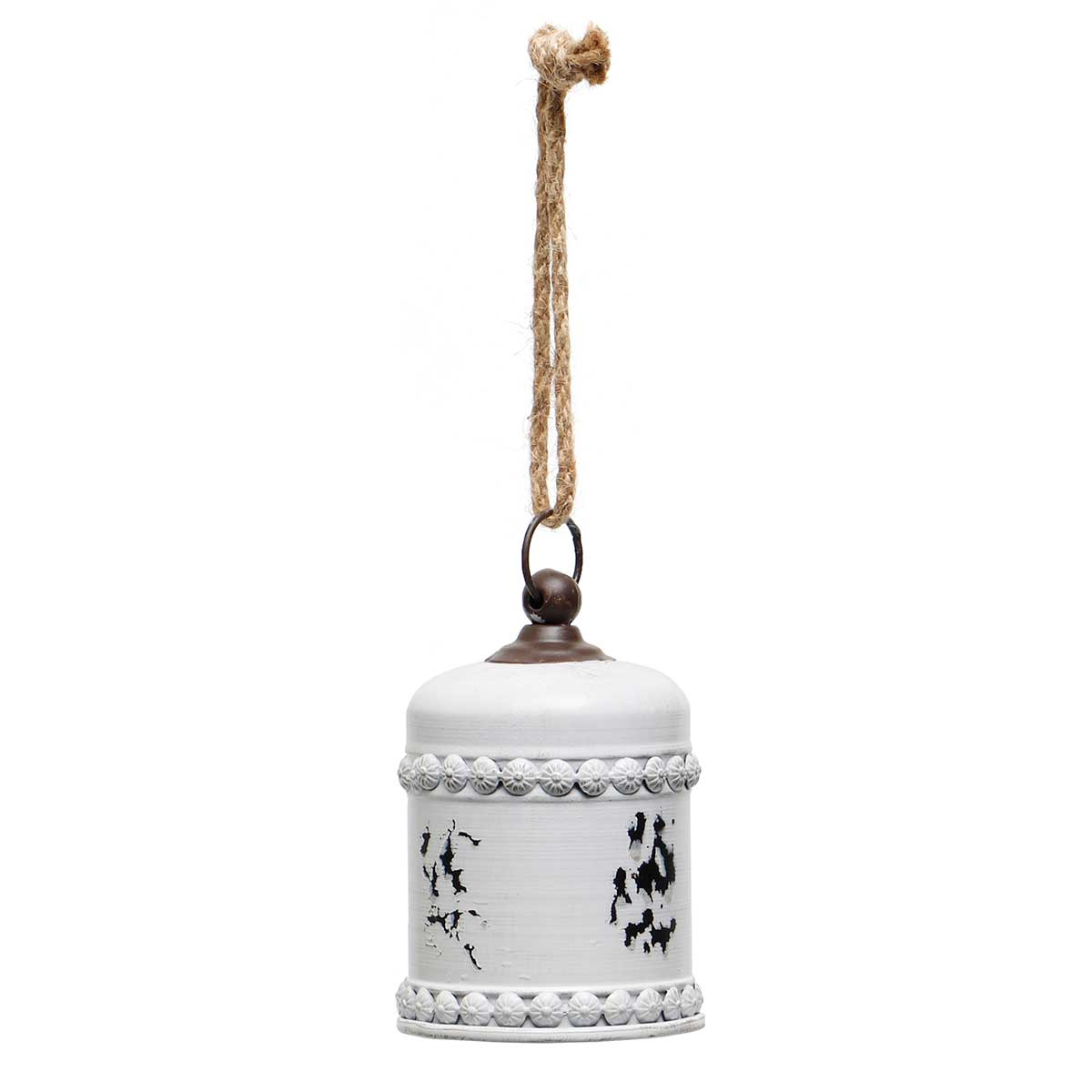VINTAGE WHITE METAL DOME BELL